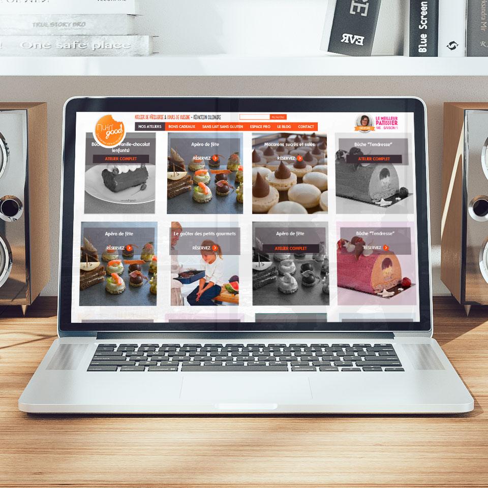 Site internet - Nutrigood cours de pâtisserie Vienne
