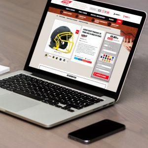Site e-commerce Spiral Football - Vente équipement football américain